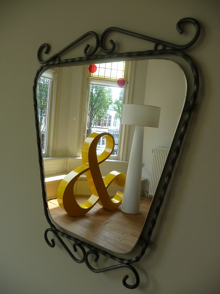 Mid century mirror in perfect condition. SOLD