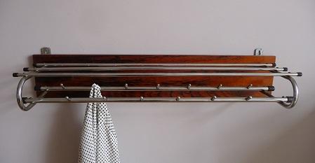 kapstok en spiegel palissander hout 3