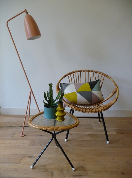 rotan stoel en salontafeltje Rohé Noordwolde