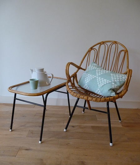 rotan fauteuil en salontafel Rohé Noordwolde 1