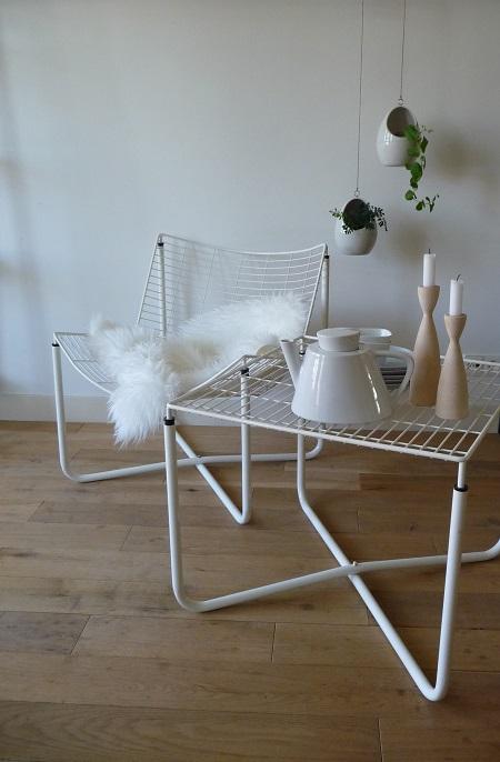 set draadstoel en tafel Niels Gammelgaard