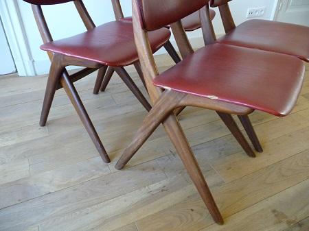 4 Wébé stoelen, Louis van Teeffelen 4