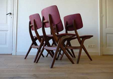 4 Wébé stoelen, Louis van Teeffelen 1