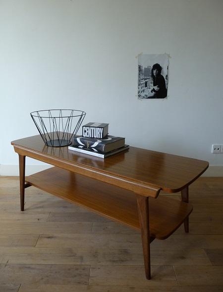teakhouten salontafel jaren 60 1
