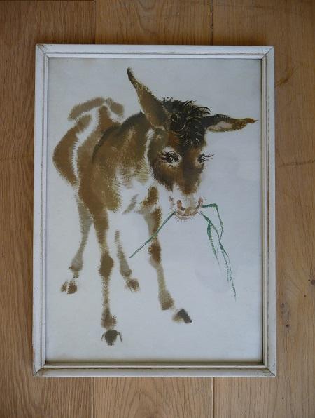 lijst met afbeelding ezeltje uit 1952 1