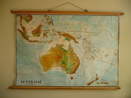 jaren 50 schoolkaart  Australië 1