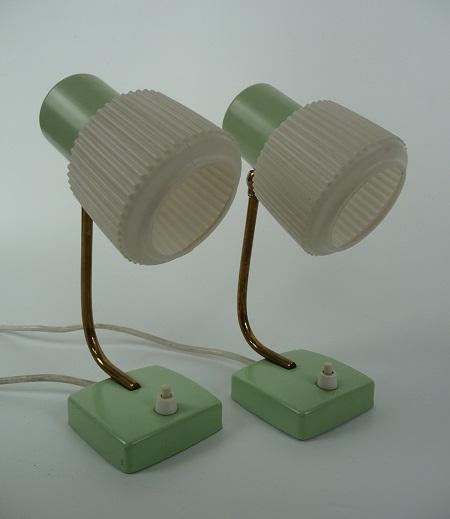 mintgroene tafellampjes jaren 50 1