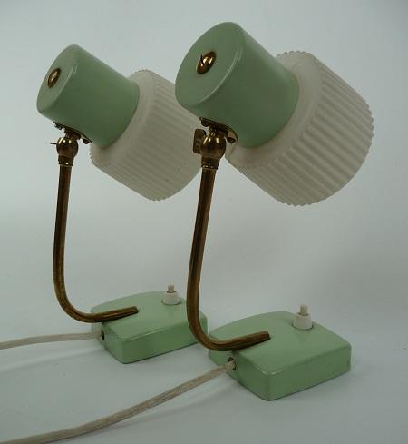 mintgroene tafellampjes jaren 50 2