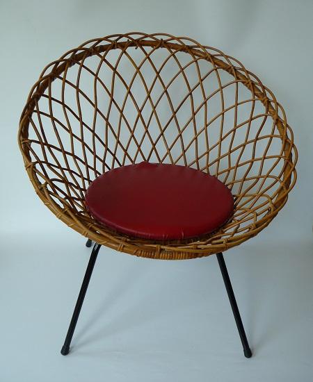 rotan stoel jaren 50 1