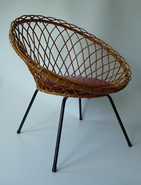 van oude dingenrotan stoel jaren 50 verkocht van oude dingen