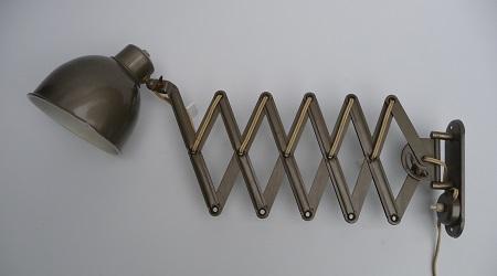 industriële schaarlamp Bauhaus stijl 1