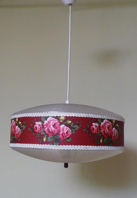 vintage hanglamp bloemenprint 2