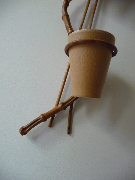 bamboe plantenhouder jaren '60 3