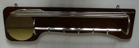 chromen buisframe kapstok met spiegel jaren 50 1
