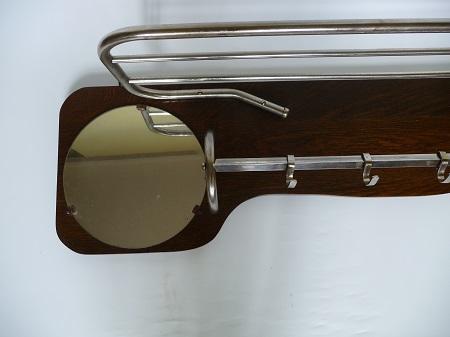 chromen buisframe kapstok met spiegel jaren 50 2