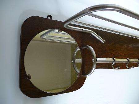 chromen buisframe kapstok met spiegel jaren 50 5