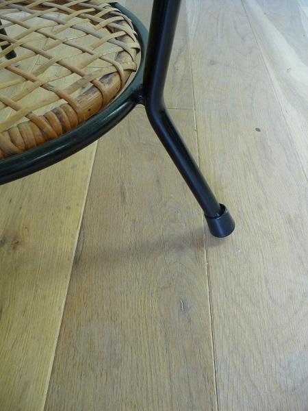 jaren 50 rotan stoel en bijzettafel Rohé Noordwolde 7