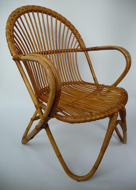 rotan fauteuil jaren 50 1