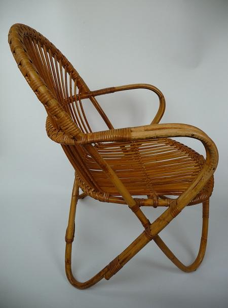 rotan fauteuil jaren 50 2