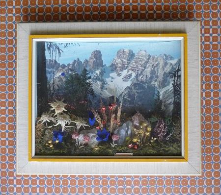 3d Tirools bergtafereel met echt bergkristal 1