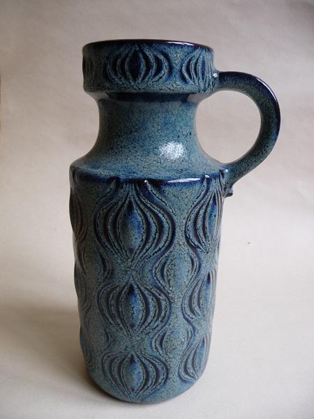 diverse blauwe Scheurich vazen 2