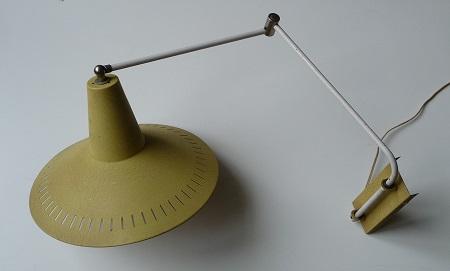 wandlamp met zwenkarm jaren 50 1