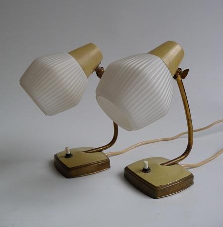 2 jaren 50 tafellampjes 1