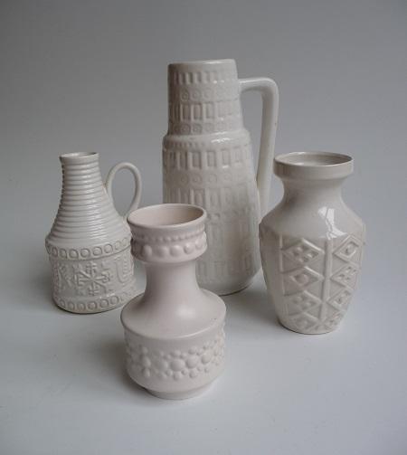 diverse witte Scheurich vazen 1