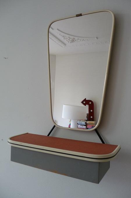 jaren 50 spiegel met kammenbakje 1