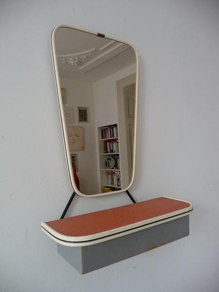 jaren 50 spiegel met kammenbakje 2