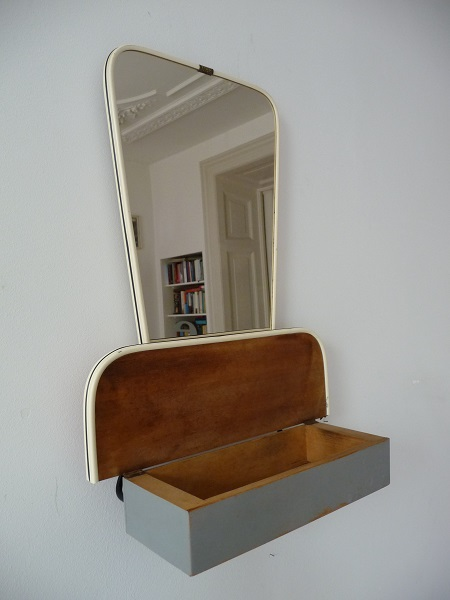 jaren 50 spiegel met kammenbakje 3