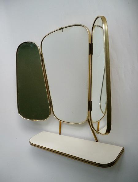 jaren 50 kapspiegel met planchet 1