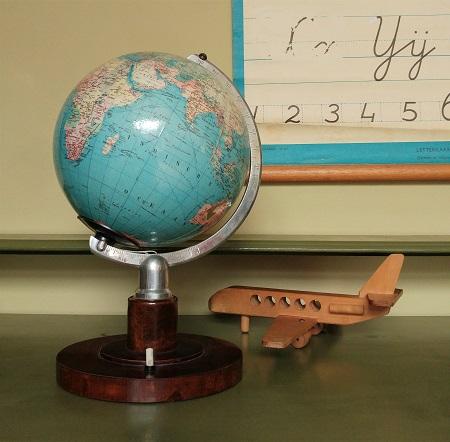 globe met licht jaren 70 1