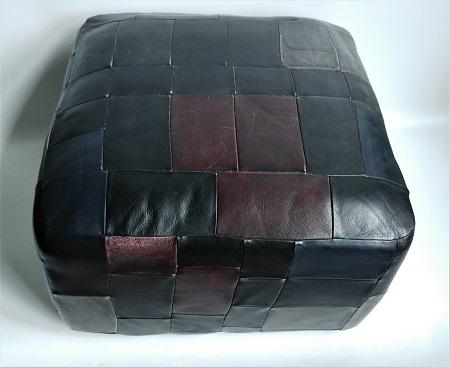 vintage patchwork poef 1