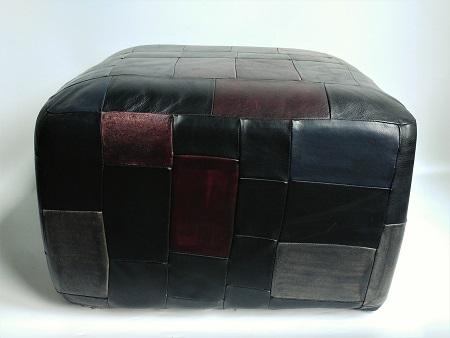 vintage patchwork poef 2