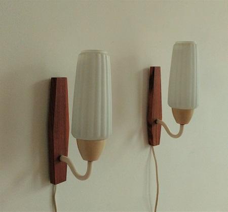 2 wandlampjes jaren 50 1