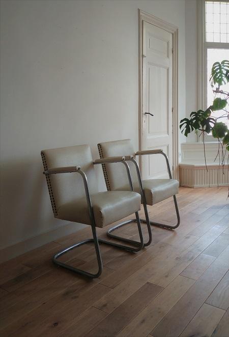 set buisframe stoelen jaren 50 1