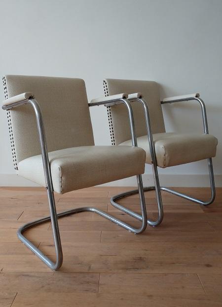 set buisframe stoelen jaren 50 3
