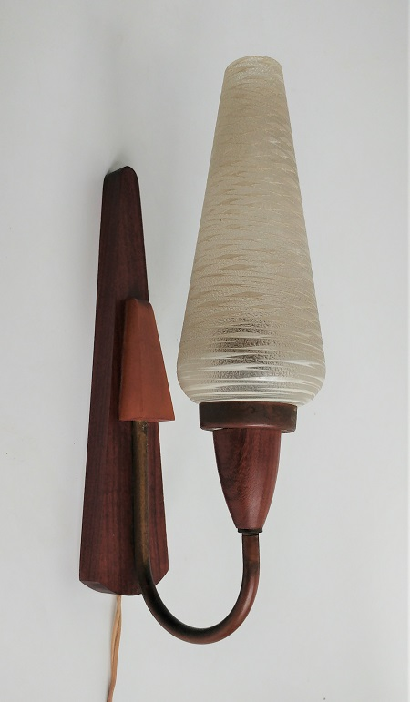 teak wandlamp jaren '60 1