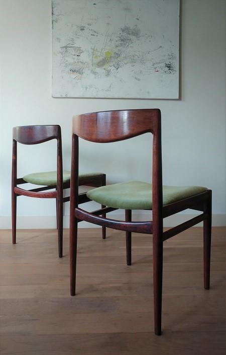 set palissander stoelen Niels Otto Møller 5