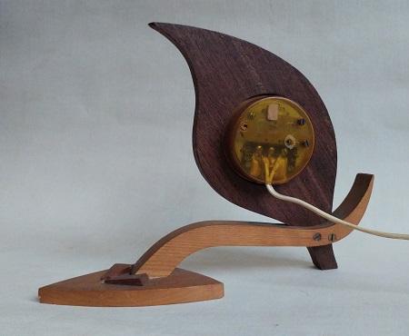 palissander tafelklok jaren 50 4