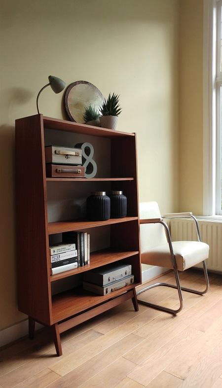 teak boekenkast jaren 60 1