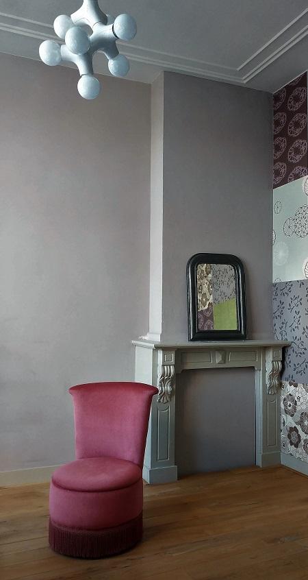 Van oude dingenvelours boudoir fauteuiltje jaren 50 for Boudoir stoel
